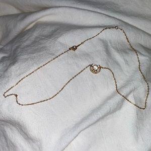 Nadri Rose Gold Moon Star necklace